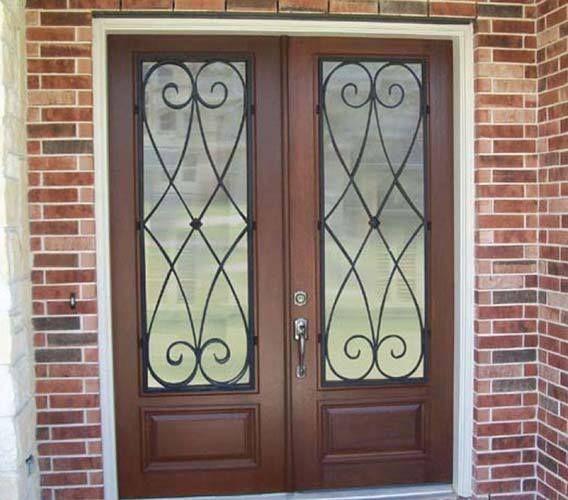 Wood And Iron Front Doors: 26 Best Exterior Doors Images On Pinterest