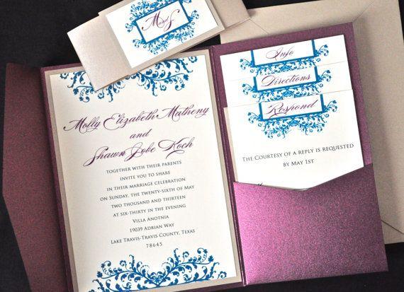 Custom Monogram Wedding Invitations