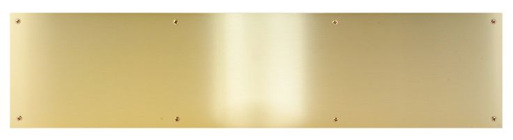 Satin Brushed Brass Kick Plate - fo cabinet baseboards