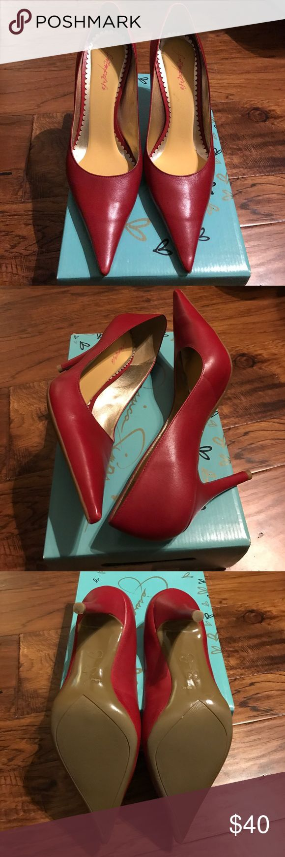 Jessica Simpson Red Ness pumps 10m Only worn once and still in original box. Heel height 4 inches. Jessica Simpson Shoes Heels