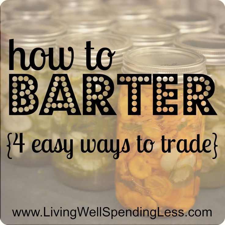 how to barter {4 easy ways to trade for stuff you want}   #31days of living well & spending zero   #bartering #free