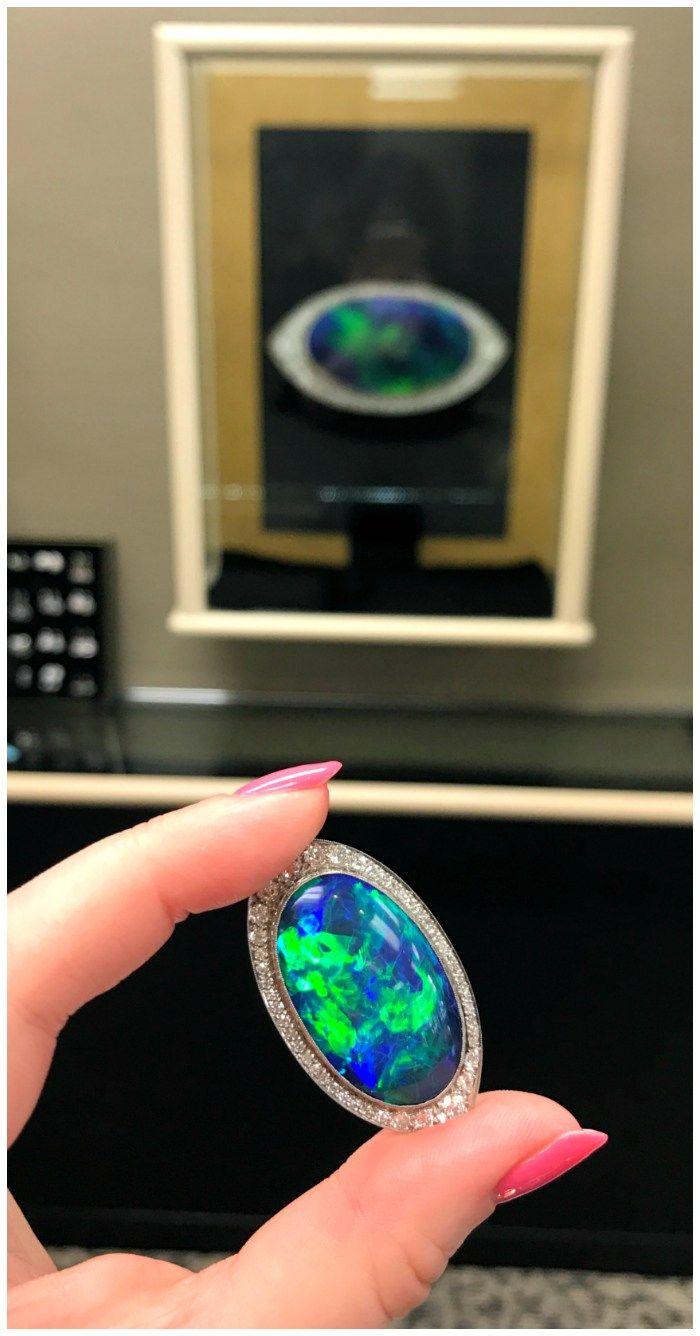 An utterly stunning antique Art Deco black opal brooch from Joden.