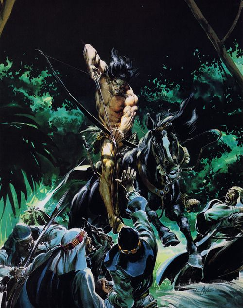 Gallery of Neal Adams cover art for Tarzan books