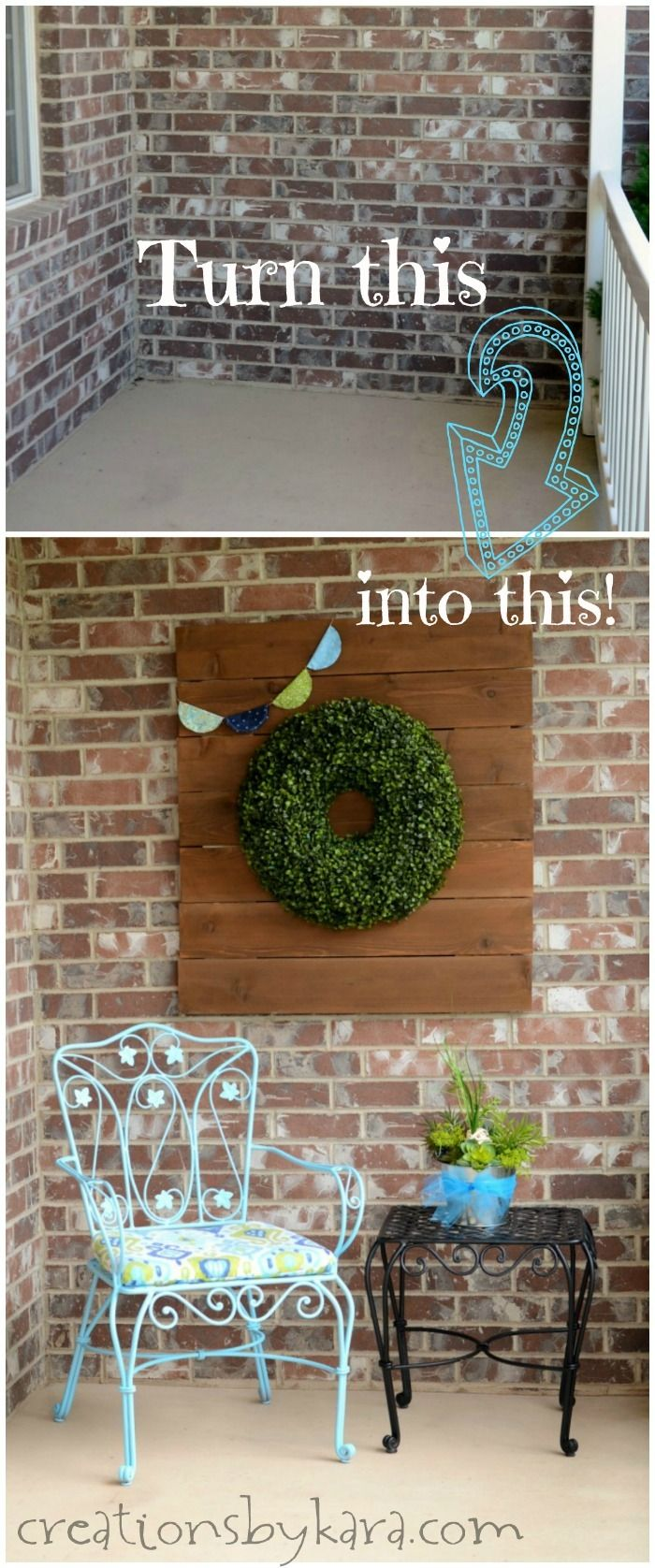 Spruce up your porch with these DIY ideas. Tips for a pretty porch. Front porch decorated for spring.