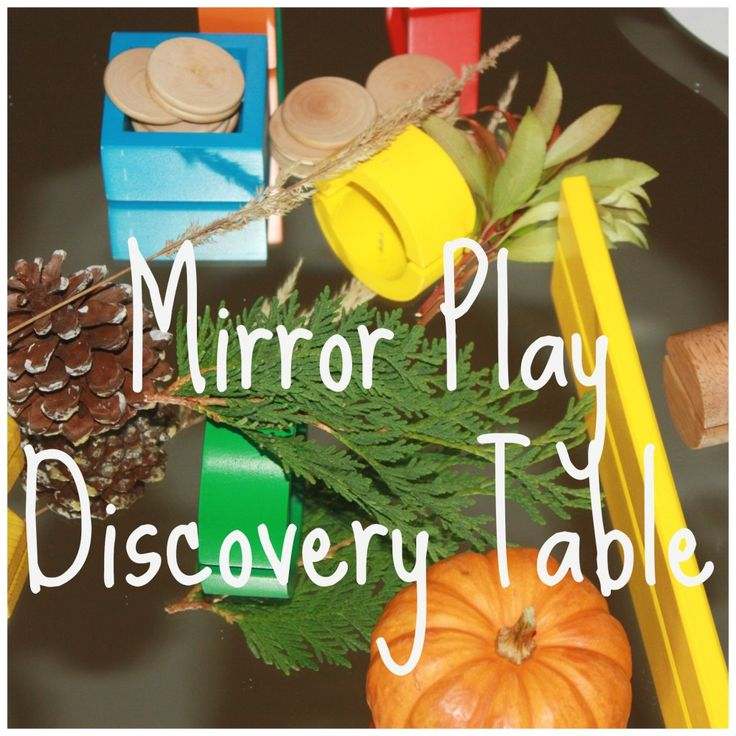 Mirror Play Discovery Table from Little Bins for Little Hands.