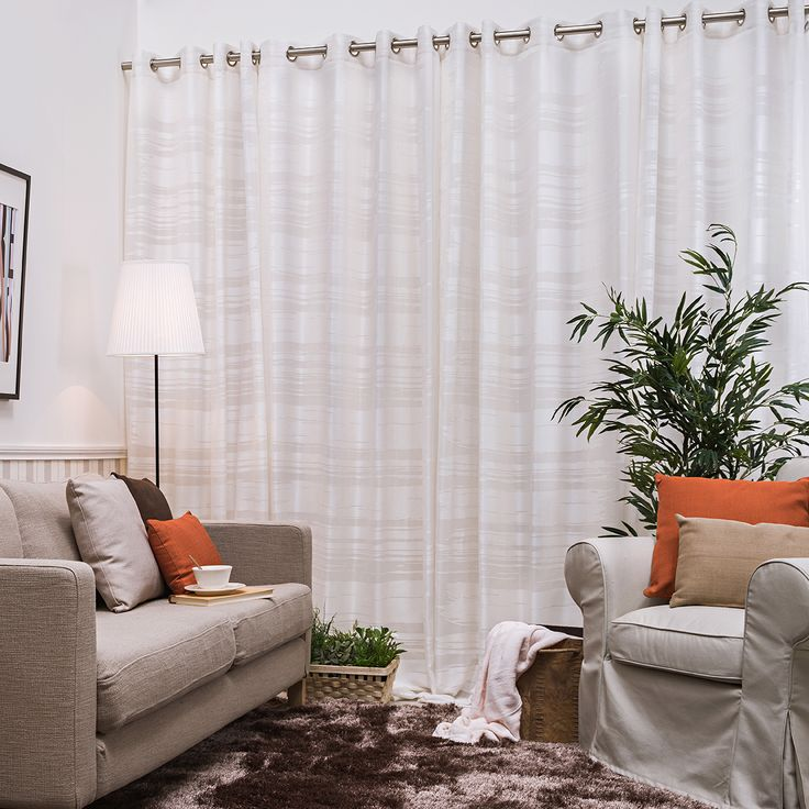 58 best images about cortinas confeccionadas on pinterest for Cortinas visillo modernas