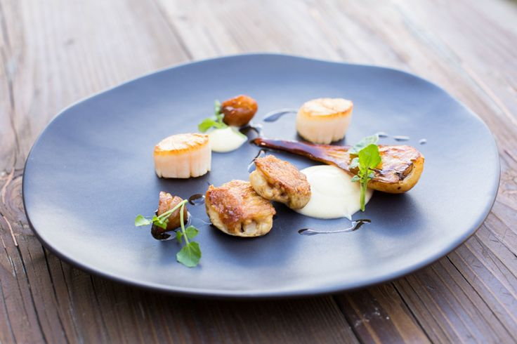 scallop, chicken wing, chestnut, parsnip