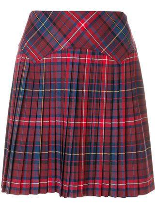 Tommy Hilfiger minifalda plisada a cuadros