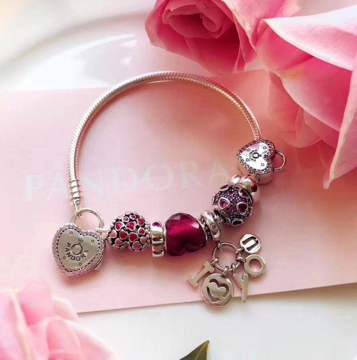 Pandora lock promise heart love charm bracelet