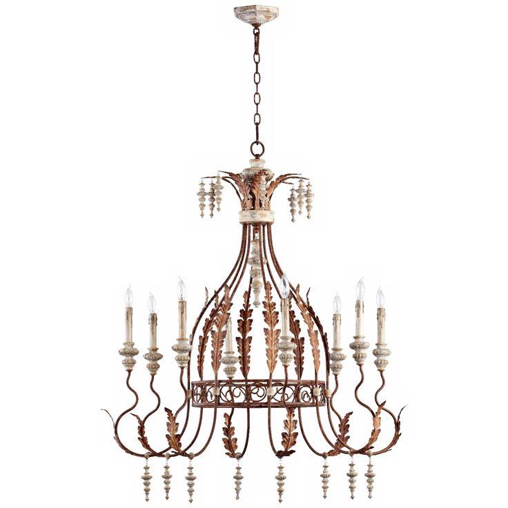 """Quorum La Maison 8-Light 34 1/2"""" Manchester Grey Chandelier - Style # W5223"""