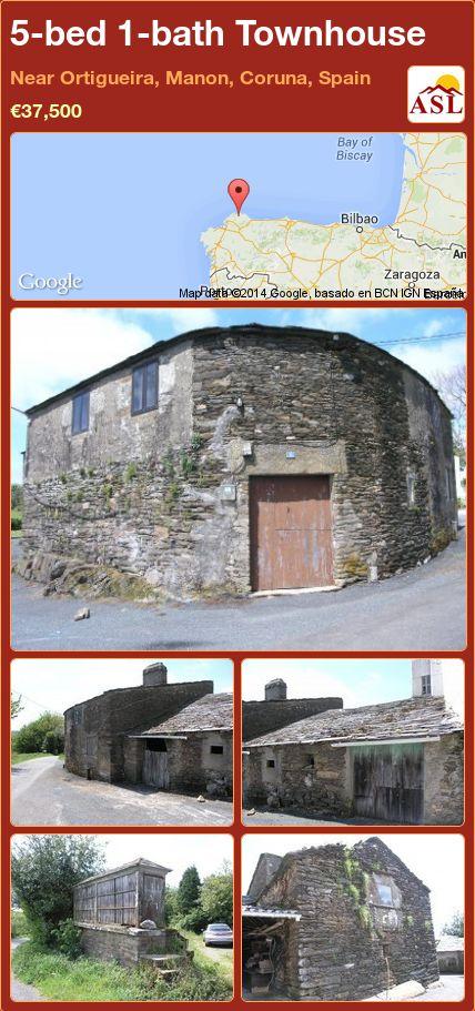 5-bed 1-bath Townhouse in Near Ortigueira, Manon, Coruna, Spain ►€37,500 #PropertyForSaleInSpain