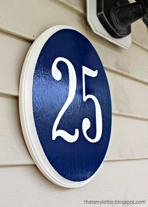 """That's My Letter: """"D"""" is for DIY House Number Plaque -- not plants, but outdoor related. ;-)"""