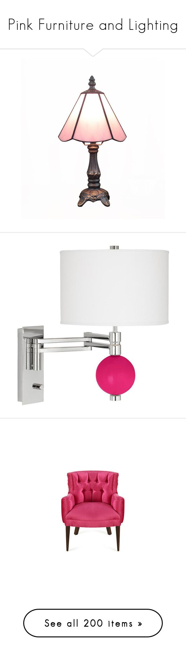 Pinterestteki 25den fazla en iyi pink table lamps fikri pink furniture and lighting by melzy liked on polyvore featuring lamps lights geotapseo Gallery