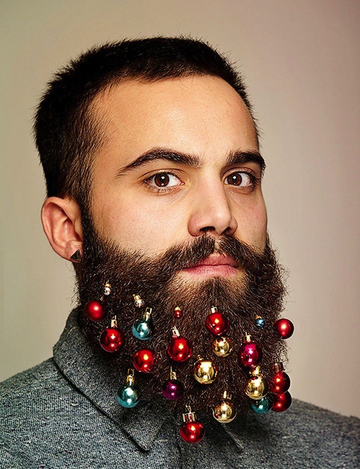 Decorate your beard this Christmas with Beard Baubles!