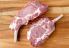 Gourmet meat for sale online including Kobe-Style Wagyu Beef, pork chops and ribs, leg of lamb and lamb chops, veal loin and tenderloin, buffalo meat and fresh game meats.