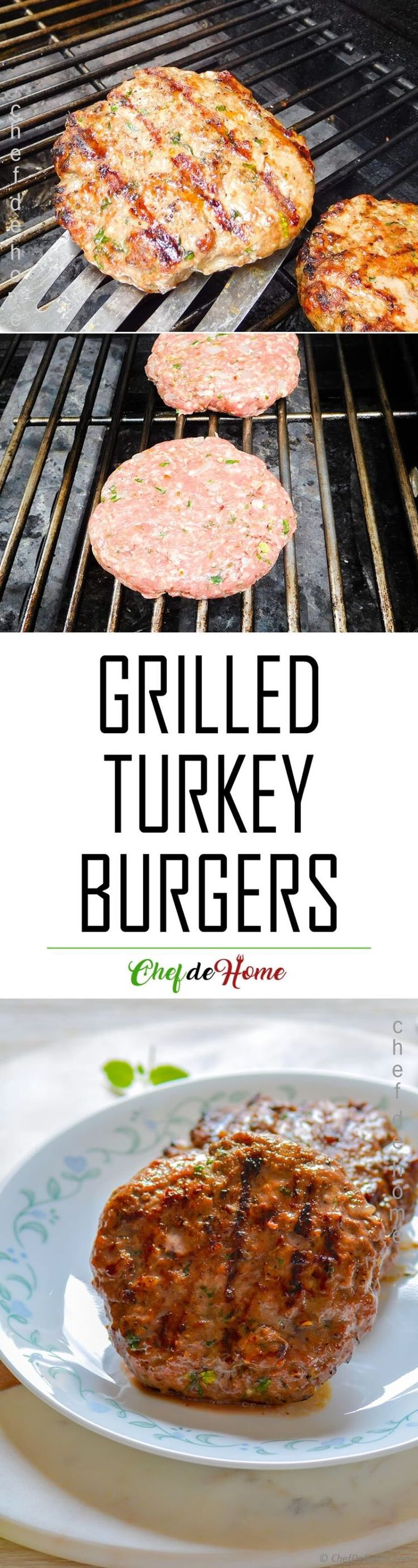 How to Make Grilled Turkey Burger - This grilling season cook perfectly moist, homemade grilled turkey burgers!