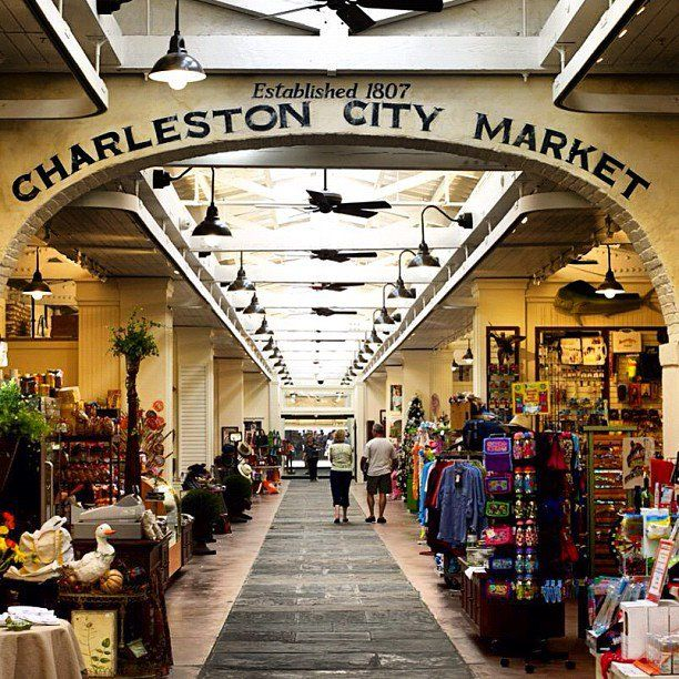 The historic City Market in Charleston, S.C., is one of the oldest public markets in the U.S. Amazing place to buy authentic souvenirs like sweetgrass baskets and benne wafers! #travel