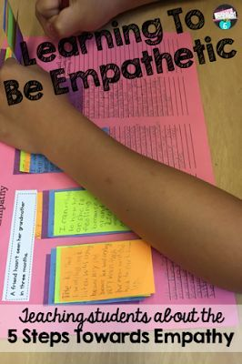Teaching students about the 5 steps toward empathy