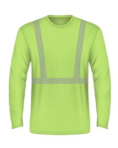 43b266bae6 Hi-Visibility Comfort Trim Performance Long Sleeve Tee | USA Bayside 100%  Polyester, 4.5 oz STYLE: 3735 AVAILABLE COLORS: Lime Green, Orange S-3XL