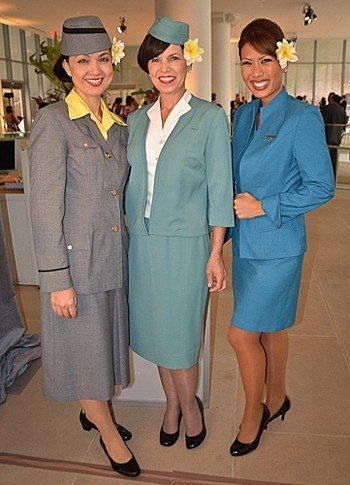 From Polyester Prints to Pool Blue: Hawaiian Airlines' Uniforms Through History : Condé Nast Traveler