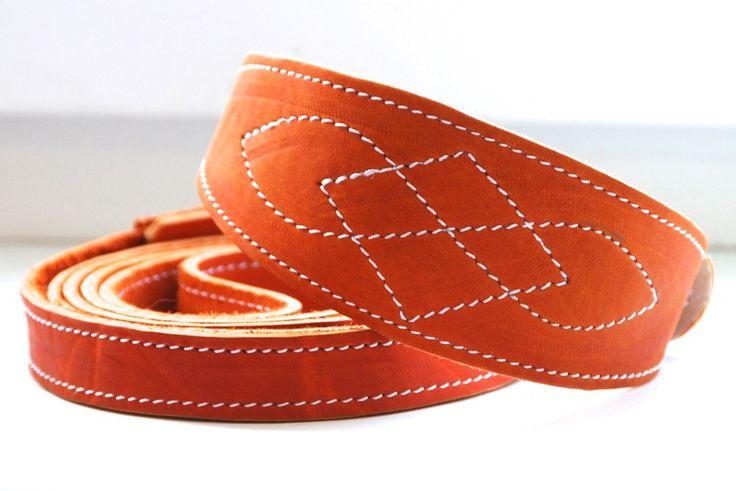 Windhund Halsband Leder und Hundeleine von Dimanott's collars auf DaWanda.com