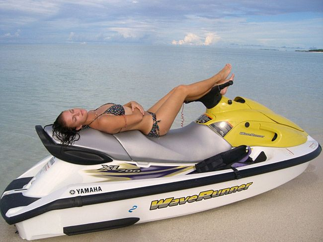 Jet Ski :) I do this on my jet ski..I may not have a boat but I find a way to relax somehow :) Darla :)