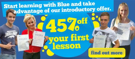 Here at Blue School of Motoring we'll give you a free driving lesson in Reading, when you book 10 lessons.