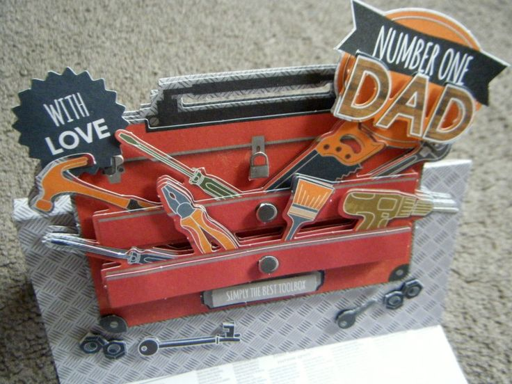 Decoupage Father's Day Card #cards #Fathersday