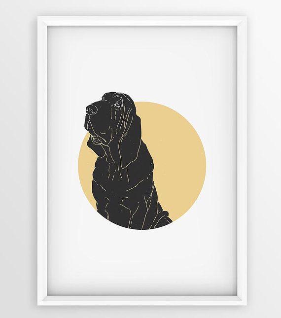 Vintage Bloodhound Dog Prints Dog Printable Art by seaquintdesign