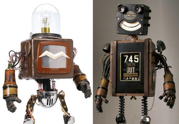MIKE RIVAMONTE // robots sculptures
