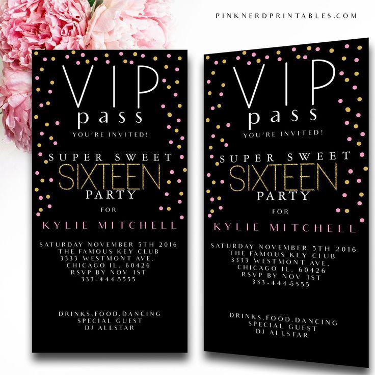 best 25+ vip pass ideas on pinterest, Party invitations