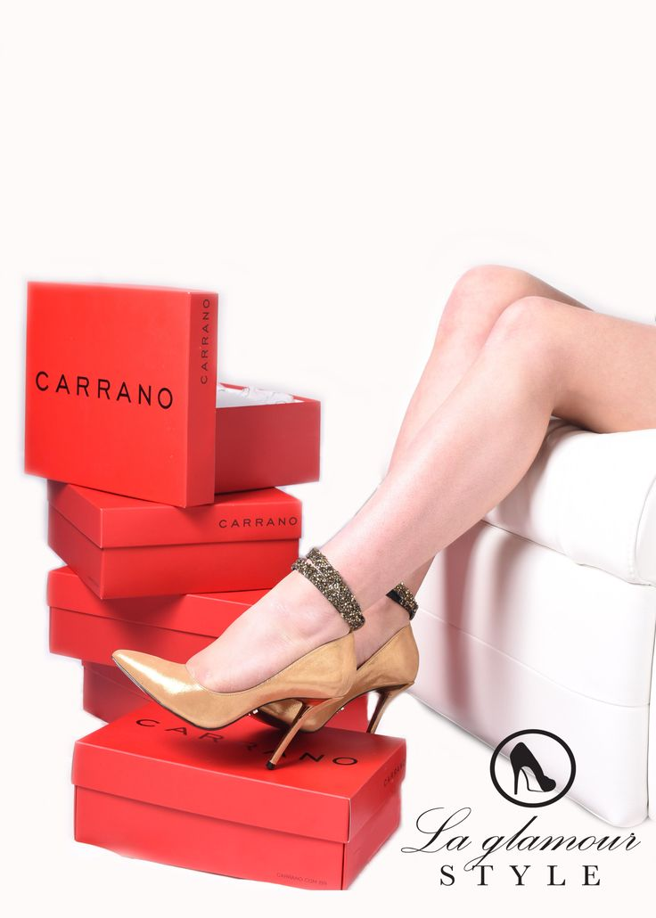Gold leather Carrano shoes