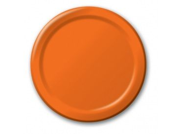 Sunkissed Orange Dessert Plates, Package of 8 - Whish.ca