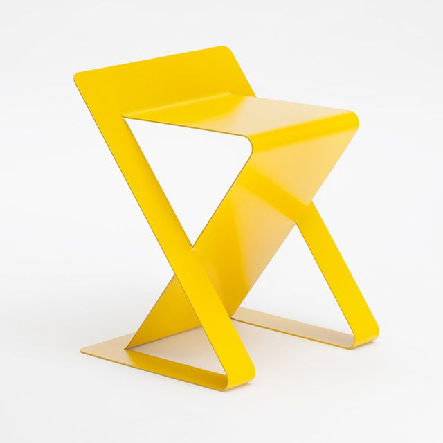 Ics is cut and folded from a single sheet of metal. Designed by Studio 06