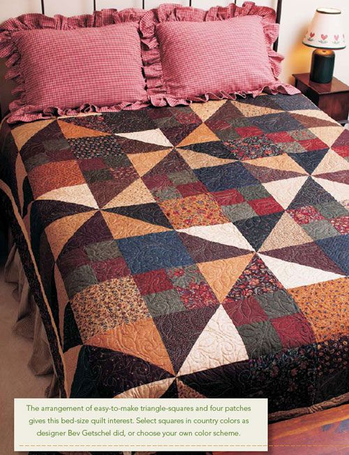 647 best Easy Quilt Patterns images on Pinterest | Projects ... : easy large block quilt patterns - Adamdwight.com