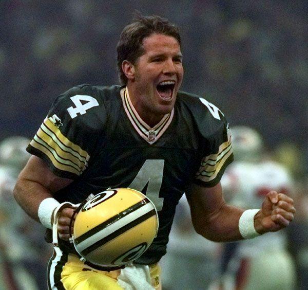 Brett Favre. Man, he was a cutie...unless he was throwing interceptions ;)