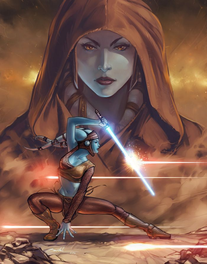 Aayla Secura by Nate Baertsch.