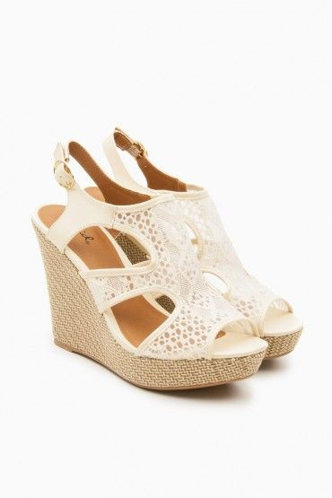 Kaila Wedges in Ivory