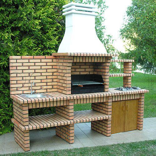 Barbacoas de obra pesquisa google finca pinterest - Construccion de chimeneas de ladrillo ...