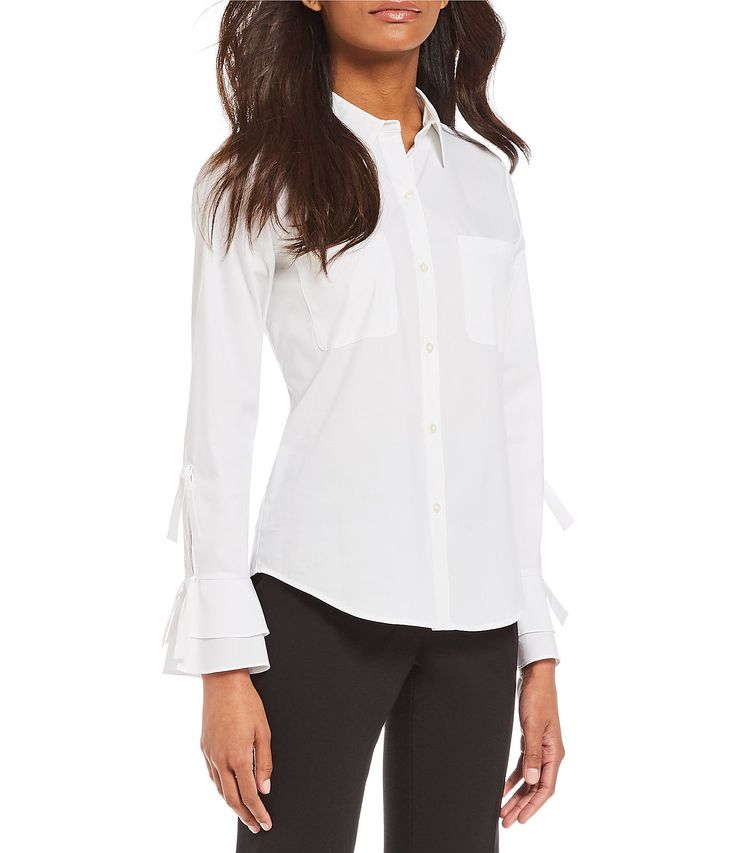 Shop for Calvin Klein Tiered Ruffle Bell Cuff Tie-Sleeve Poplin Shirt at Dillards.com. Visit Dillards.com to find clothing, accessories, shoes, cosmetics & more. The Style of Your Life.
