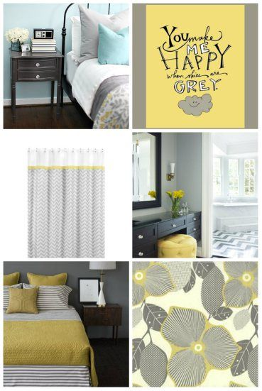 Seeking Inspiration  A Grey U0026 Yellow Bedroom