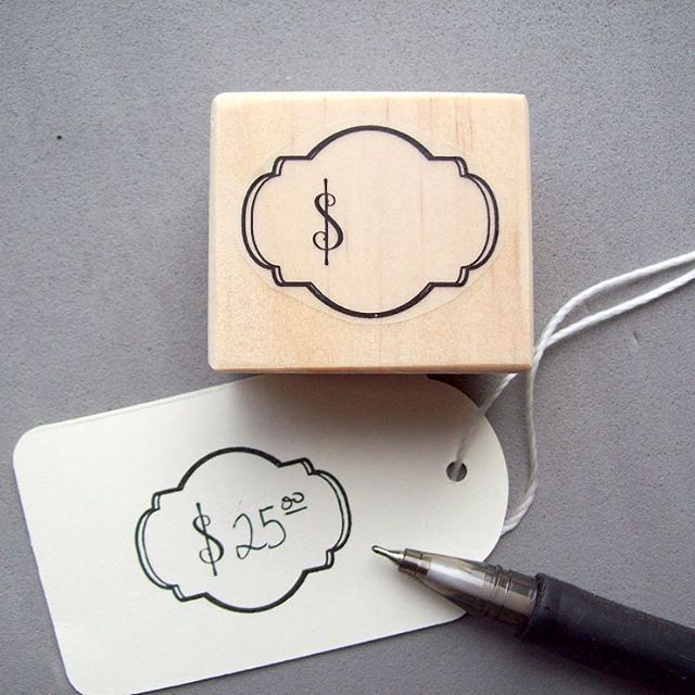 For DIY price tags! Stamp a pretty design and write in the price. For craft shows, garage sales, flea markets, boutique shops, antique sales, glass case displays and more.