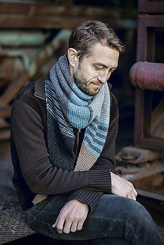 IDEA - COMBINACIÓN DE COLORES Ravelry: Road Trip Scarf pattern by Evi T'Bolt #knit #pattern