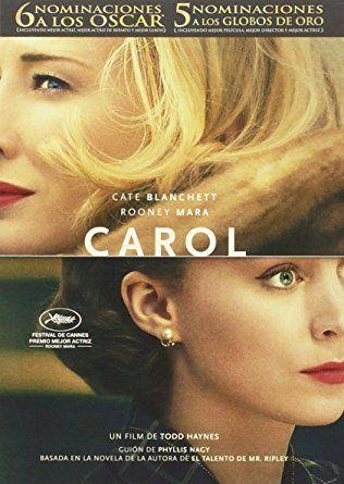 Código PUCP: PN 1995.9.C36 C17 (AV16) -- Resumen: Nueva York, década de 1950. Therese Belivet (Rooney Mara), una joven dependienta de una tienda de Manhattan que sueña con una vida mejor, conoce un día a Carol Aird (Cate Blanchett), una mujer elegante y sofisticada que se encuentra atrapada en un matrimonio infeliz. Entre ellas surge una atracción inmediata, cada vez más intensa y profunda, que cambiará sus vidas para siempre.