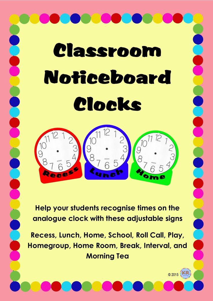 Great clocks to show students what happens at different times of the day. Great to have around the class clock on the wall so students can refer to them and start to read analogue clocks!