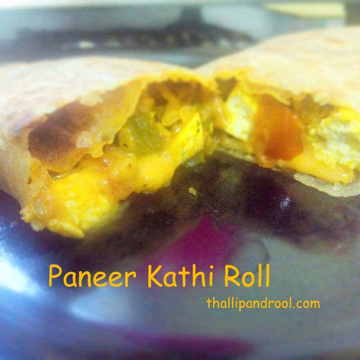 "Paneer Kathi Roll A light evening snack , which is commonly categorized under ""Street Food"" . Originally this was a non-vegetarian dish , which has kheema and egg omelette in it and this is quiet famous in Kolkatta (Thats what chef Saransh depicted in one of his shows in Food Food). Anyway , I'll be presenting to you a vegetarian version , which is quick , easy and takes about close to 25 minutes to make. You need 200 grams of cubed paneer , finely chopped onion(1) , finely chopped tomato…"