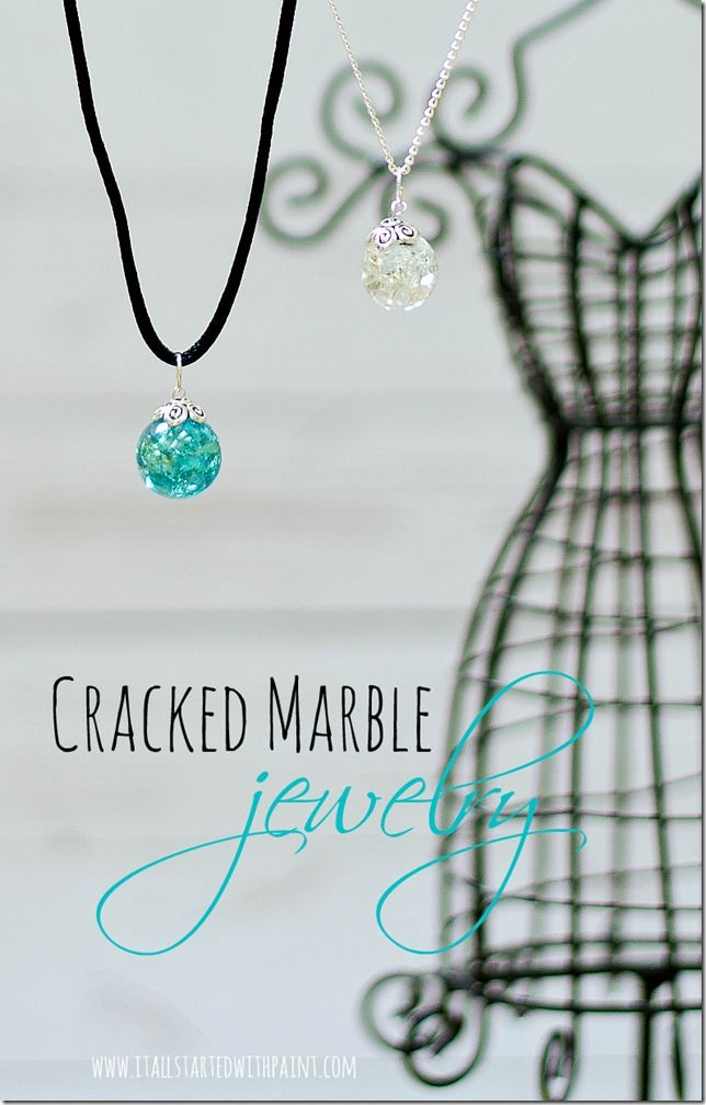 You can make your own sparkling jewels for a fraction of the cost. Using plain old marbles. Cracked marble jewelry all your style, your way.