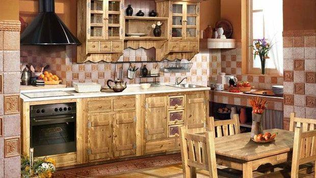Состаренная мебель - кухня