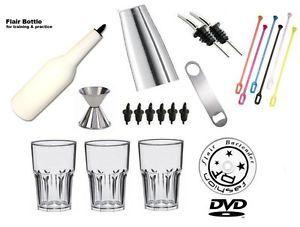 Kit  BARTENDING BARMAN FREESTYLE FLAIR  + DVD VIDEO Spedizione Gratis   eBay