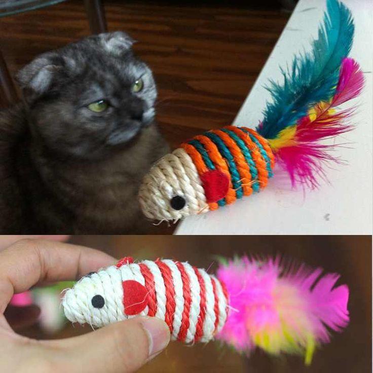 собак pet cat перо хвост мини сизаля сплетенная мышь игрушка играя игрушки в категории игрушки и жвачки